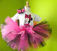 #MC Sparkle Full Body Baby Minnie Mouse Tutu Set Outfit by PoshBabyStore.com