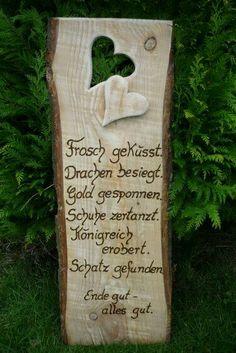 Holzschild Hochzeitsspruch eine Kreation von Annegret Lindhorst