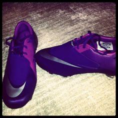 my purple soccer cleats :)