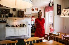 Netter Empfang im Café im Glasreich  ... #café #glasreich #smaland #schweden
