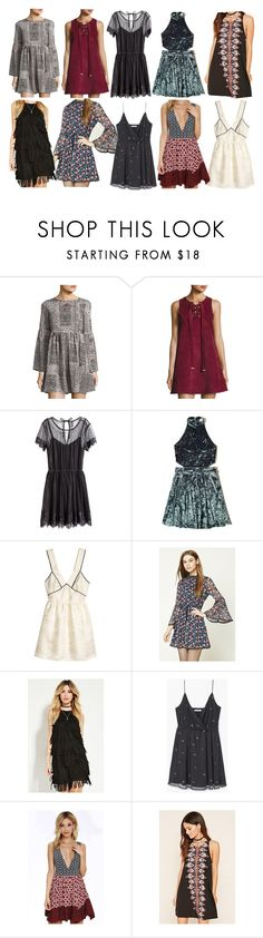 """""""Aria Montgomery inspired graduation dresses"""" by liarsstyle ❤ liked on Polyvore featuring On the Road, Moon River, H&M, Hollister Co., Forever 21, MANGO, LULUS, Graduation, party and date"""