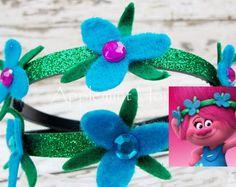 Princesa amapola, amapola venda, venda de Troll, Troll de amapola, amapola Pprincess troll venda, venda de la flor amapola, amapola cumpleaños venda