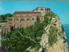 Recreation of the Villa Jovis, built by the Roman emperor Tiberius, on Capri. Capri was the model for the Uttoran island of Iniga, where Gaspar has a villa. I researched imperial villas on that island.