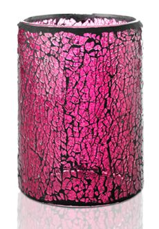 Crackle Colored Glass Shade, Pink $30