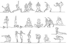 Yoga bundle (continuous line icon) by Valenty on Yoga Drawing, Drawing Exercises, Person Drawing, Drawing People, Continous Line Drawing, Yoga Meditation, Yoga Tattoos, Yoga Illustration, Sup Yoga