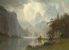 Albert Bierstadt – Tra le montagne – 1867 – Wadsworth Atheneum Museum of Art, Hartford
