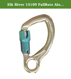 """Elk River 13195 FallRate Aluminum Captive Eye Carabiner with Auto-Twist Lock, 3600 lbs Gate, 3/4"""" Gate Opening. Elk River aluminum captive eye carabiner with auto-twist lock. Safety-rated snaphooks are connecting devices used to connect the components of fall protection systems. All snaphooks used in fall protection systems must be double-locking. Always use compatible connectors. 5-1/8-inches x 2-7/8-inches x 3/4-inches gate opening. Elk River, Double Lock, Safety And Security, Gate, Connect, Portal"""
