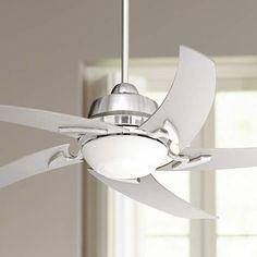 "52"" Casa Vieja Capri Brushed Nickel Ceiling Fan with Light - #U6189 | Lamps Plus"