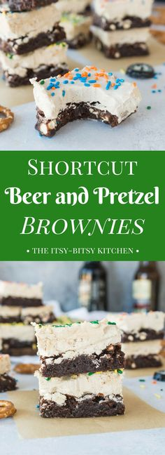 Shortcut Beer + Pretzel Brownies tailgatefood Be the star of your next football .Shortcut Beer + Pretzel Brownies tailgatefood Be the star of your next football party with these Shortcut Beer + Pretzel Brownies. Homemade Desserts, Easy Desserts, Delicious Desserts, Dessert Recipes, Sweet Desserts, Tailgating Recipes, Tailgate Food, Pretzel Brownies, Easy Sweets