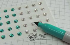 Have you colored your own rhinestones with Sharpie markers? I'm not sure if this one works, I will have to test it out but it would be amazing to get the amount of custom colored rhinestones you need for projects. Sharpie Crafts, Sharpie Markers, Sharpie Art, Sharpies, Copic Markers, Card Making Tips, Card Making Techniques, Making Ideas, Scrapbooking Technique
