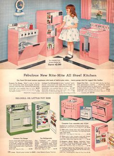 Lower right - I had these little metal kitchen pieces - I remember playing with them when I was around 4 but I think I had them a lot sooner than that.