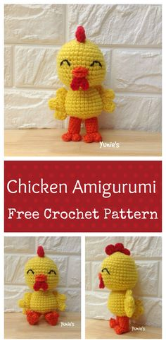 The Year of the Rooster is coming and i'm going to show with you guys a cute chicken amigurmi. You can use it as a home decoration for our chinese new year. Le