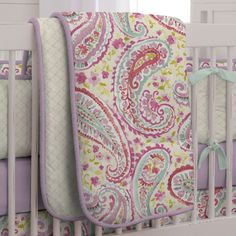 Watercolor Paisley Crib Comforter