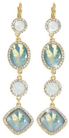 Bijou Brigitte  Drop Earrings - Blue Opal