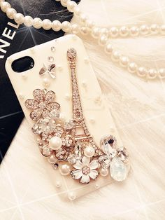 3d bling Eiffel Tower crystal iphone 4 case