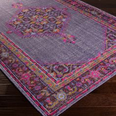 Surya Zahra Purple Hand Knotted Wool Rug  - use code HGTVMAG20 for 20% off!
