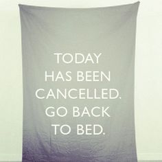 Getting back to bed.