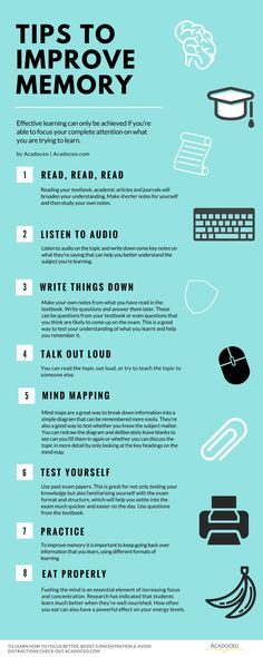 Tips to improve memory. How To Focus Better, Boost Concentration & Avoid Distractions College Hacks, School Hacks, College School Supplies, Studyblr, School Study Tips, School Tips, Tips To Study, Study Ideas, Inspiration To Study