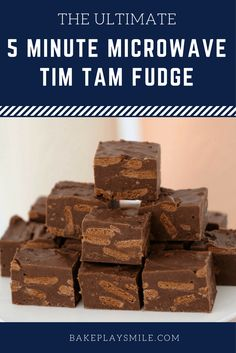 5 Minute Microwave Tim Tam Fudge