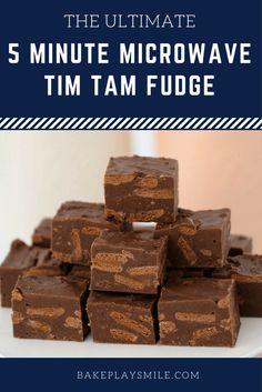 5 Minute Microwave Tim Tam Fudge