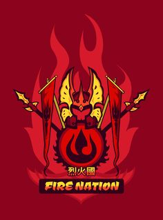 Avatar Nations Series - Fire Nation / Represent your favorite Avatar Nation with pride! by ©Marissa-Meza.