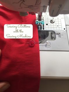 Do you want to sew buttons with your sewing machine? Here is a quick sewing tip that will show you how to easily sew the buttons. For more sewing patterns, sewing tips and sewing tutorials visit http://you-made-my-day.com/