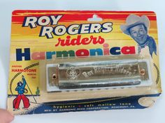 1950s Roy Rogers Riders Harmonica on Original Card Harmotone Musical Toy by KentonCollectibles on Etsy
