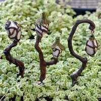 Miniature Glow-In-The -Dark Swamp Lantern Stake - Garden Style - Miniature Glow-In-The -Dark Swamp Lantern Stake Miniature Fairy Garden Accessories Fairy Houses Kids, Fairy Garden Houses, Fairy Gardening, Hydroponic Gardening, Flower Gardening, Garden Sheds, Indoor Gardening, Gardening Tips, Fairy Village