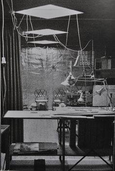 sigurd lewerentz's studio . lund . sweden . photo by klas anshelm . 1970