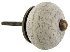 Gray Crackle Ceramic Knob