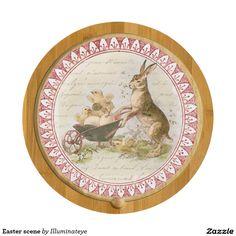 Easter scene cheese platter