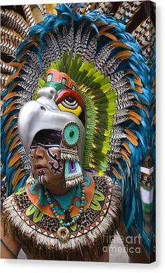 Aztec Eagle Dancer - Mexico Canvas Print by Craig Lovell