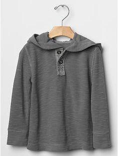 Henley waffle hoodie