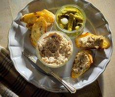 Pork Rillettes Salmon Rillettes and Duck Rillettes recipe...a pate-like spread for bagettes.