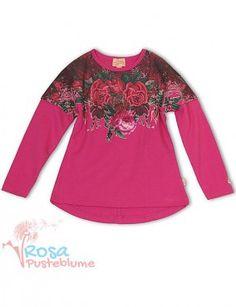 Pezzo Doro Langarmshirt Roses - pink