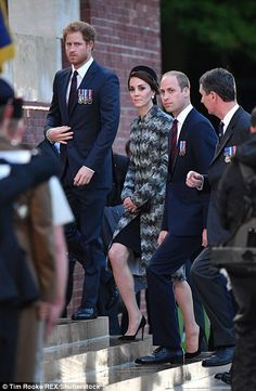 The three Royals are representing the United Kingdom at the service in France...