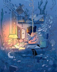 Do not disturb, Artist in the Zone! #pascalcampion #2017  I'll be busy for a bit so you'll probably see less updates in the following…