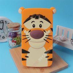Carcasa divertida silicona 3D diseño leopardo para Samsung Galaxy J5
