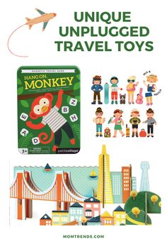 Tasteful and timeless, they have toys we know won't get old after a few minutes. As we gear up for the holidays (or maybe a very safe road trip) here are my favorite unplugged travel toys for your next trip.