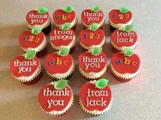 Thank you cupcakes for teacher