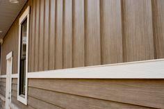 """TruCedar Steel Siding: Board & Batten and Single 8"""" in Napa Vine…"""