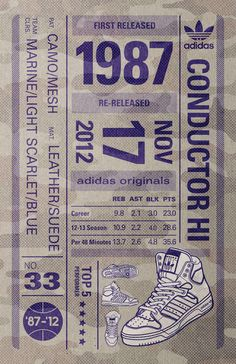 Adidas 1987 re-released. Print, design, poster