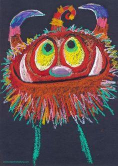 Niamh Sharkey oil pastel monster