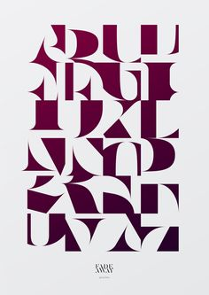 Aron Jancso is a freelance graphic designer from Budapest, Hungary who is obsessed with typeface, identity and poster design. Cool Typography, Typography Letters, Graphic Design Typography, Japanese Typography, Typography Inspiration, Graphic Design Inspiration, Graphic Design Pattern, Alphabet Police, Typographic Poster