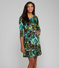 898c047deec Peter Nygard CubismPrint Dress  Dillards