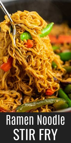 This ramen noodle stir fry is so delicious and easy to make! This ramen noodle stir fry is so delicious and easy to make! This ramen noodle stir fry is so delicious and easy to make! This ramen noodle stir fry is so delicious and easy to make! Vegetarian Ramen, Vegetarian Recipes, Stir Fry Recipes, Cooking Recipes, Easy Ramen Recipes, Beef Ramen Noodle Recipes, Ramen Noodle Chicken Stir Fry, Healthy Ramen Noodles, Healthy Noodle Recipes