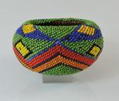 Antique Washoe Indian Beaded Basket