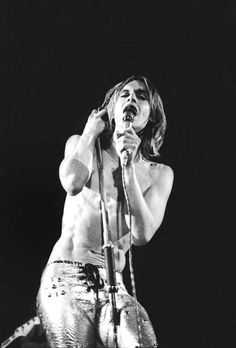 Iggy Pop, for the cover of Raw Power, 1973, by Mick Rock