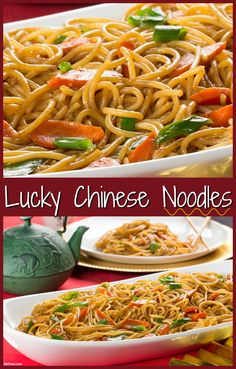 The Chinese celebrate the New Year by eating long noodles, which are ...