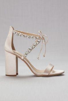 b939897ee981 Crystal-Embellished Ankle-Tie Block Heel Sandals